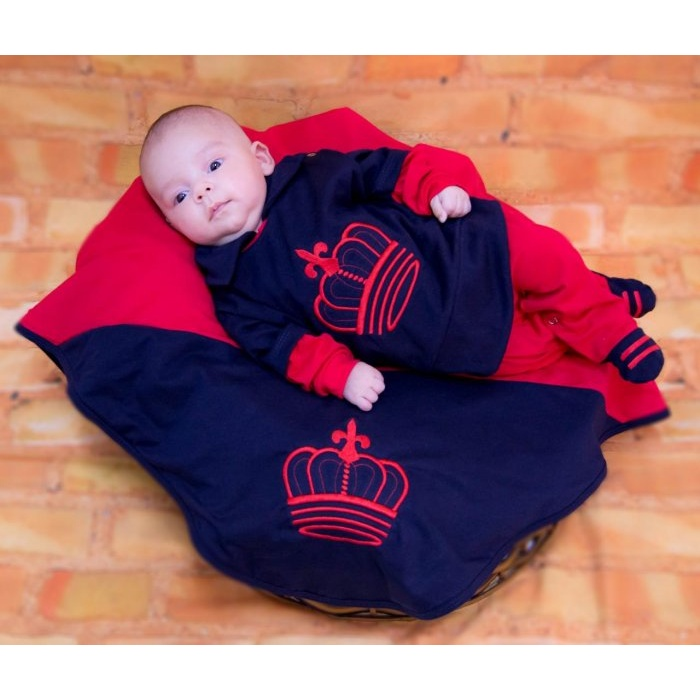 Saída Maternidade Príncipe - Coroa Vermelha  179a927cdca