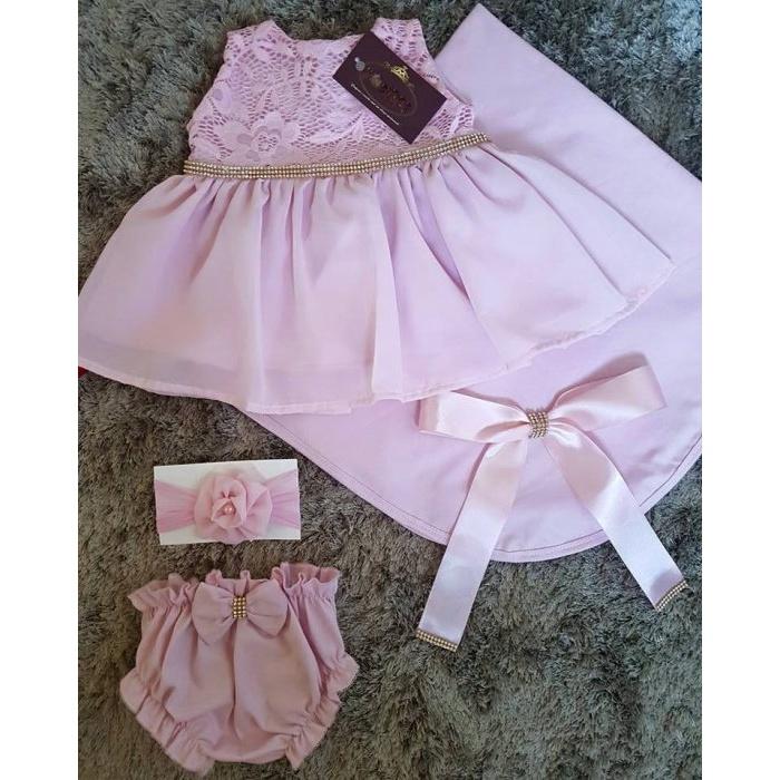 b31ddba2e ... Saída Maternidade Verão - Vestido Rosa   Strass