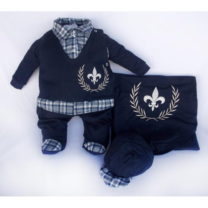 Saída Maternidade Luxo Brasão  50bec42a960